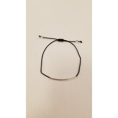 Si Simple Bracelet - Cate noir et argent
