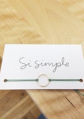 Si Simple Bracelet - Marilou vert sauge