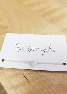 Si Simple Bracelet - Full heart