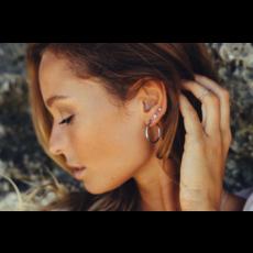 Twenty Compass Boucle d'oreilles - Anneaux argent 24mm
