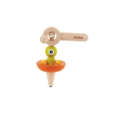 Plan Toys Jouet en bois écologiques - Toupie soucoupe volante