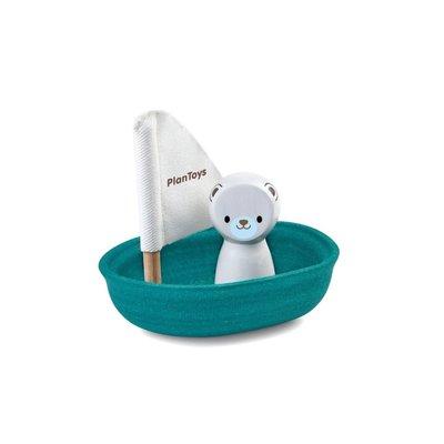Plan Toys Jouet en bois écologiques - Ours sur un voilier