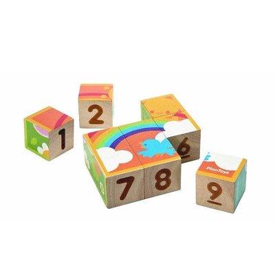 Plan Toys Jouet en bois écologiques - Cubes puzzle
