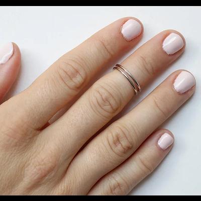 Neuf vingt cinq Bague mi-doigt - La Jumelle
