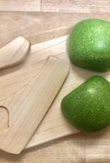 Jeremyfruitfurniture Mini planche à découper et couteau en bois pour enfants