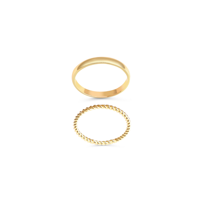 Twenty Compass Bague - Duo Bali Gold