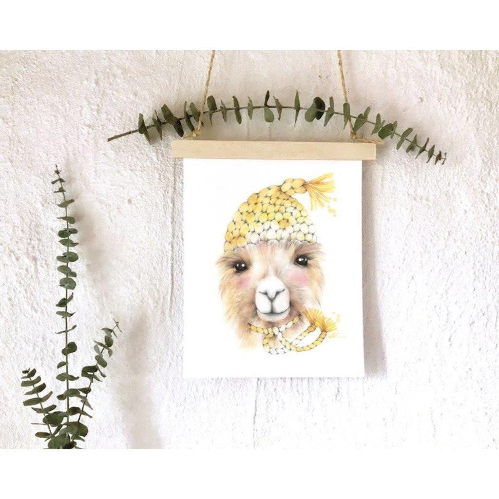 katrinnillustration Affiche - Alpaga tricot laine