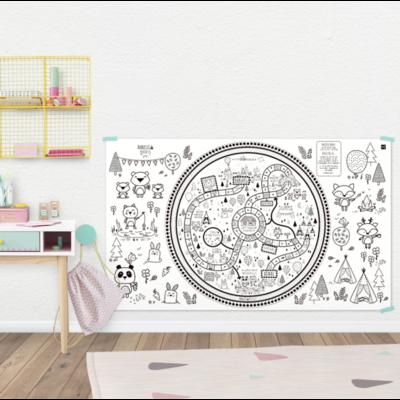 Atelier Rue Tabaga Affiche géante à colorier - Le sentier des animaux