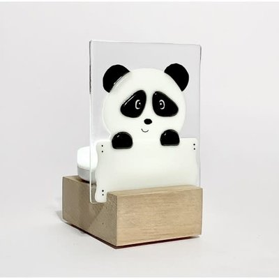 DUO verre fusion Veilleuse - Panda
