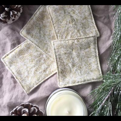 Fil & coton Lingettes démaquillantes - Noël