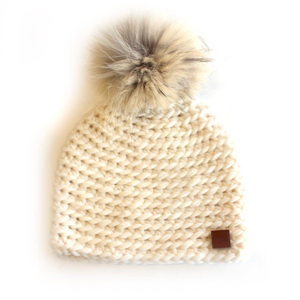 Gibou Tuque en laine avec pompon -