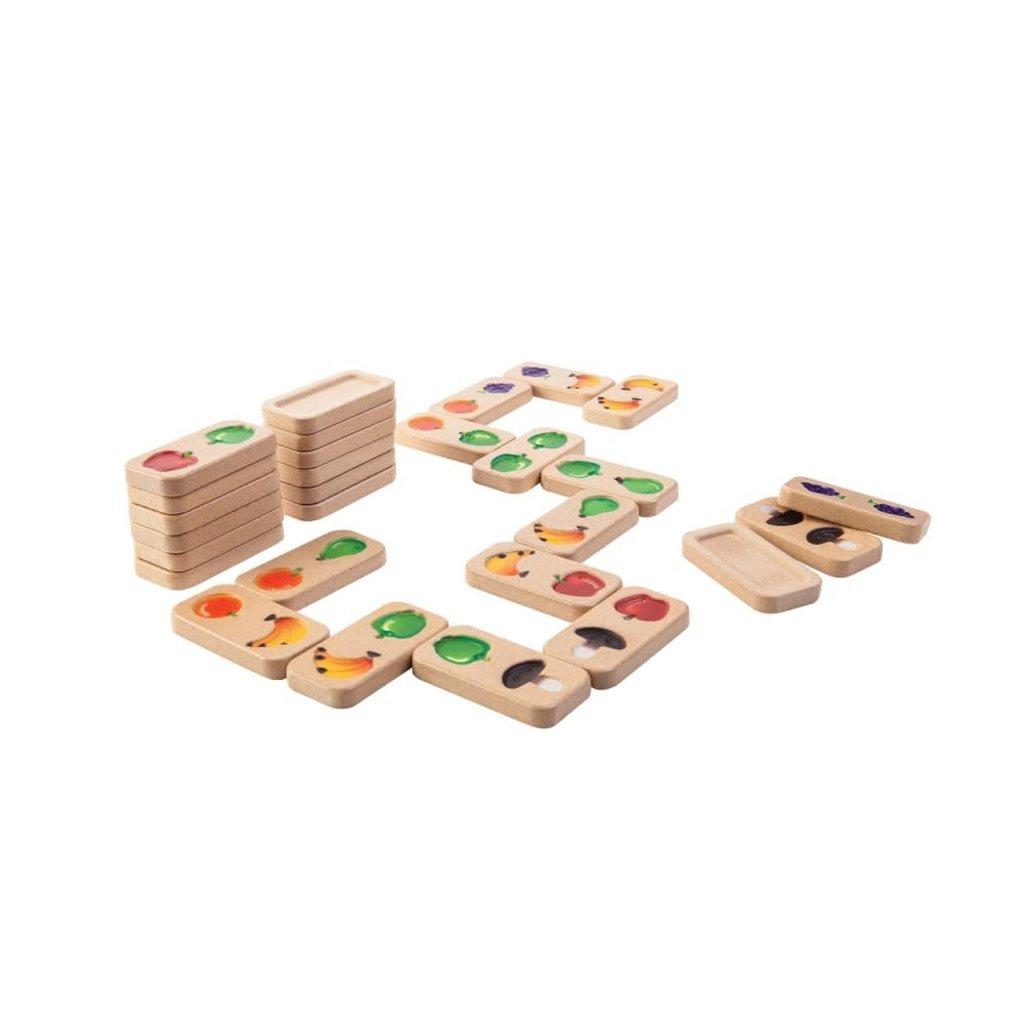 Plan Toys Jouet en bois écologiques - Domino Fruits & Légumes