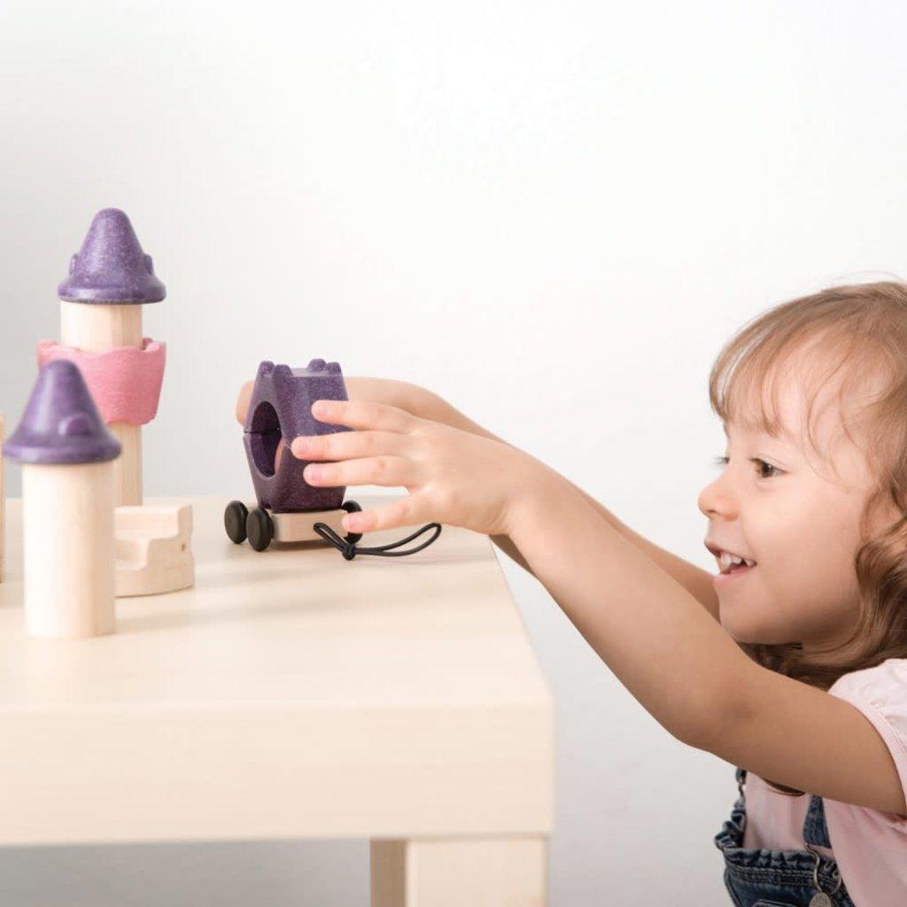 Plan Toys Jouet en bois écologiques - Bloc de construction Conte de fées