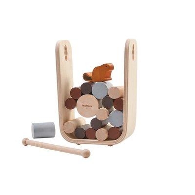 Plan Toys Jouet en bois écologiques - Castor et rondins