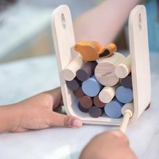 Plan Toys Jouet en bois écologiques - La chute des rondins de bois