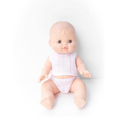 Paola Reina Poupée bébé en pyjama - Rose