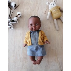 Paola Reina Cardigan jaune pour poupée