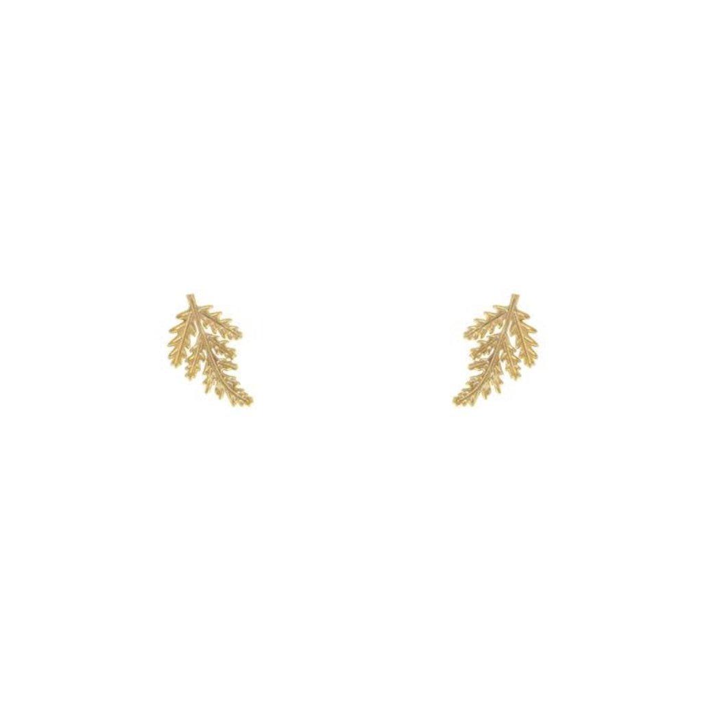 Lost & Faune Boucles d'oreilles - Feuilles texturées