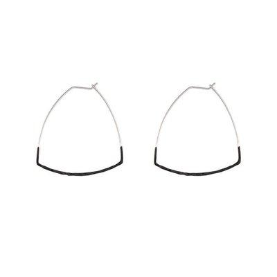 Lost & Faune Boucles d'oreilles - Triangles texturées