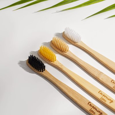 Cocooning Love Ens. 4 brosses à dents en bambou