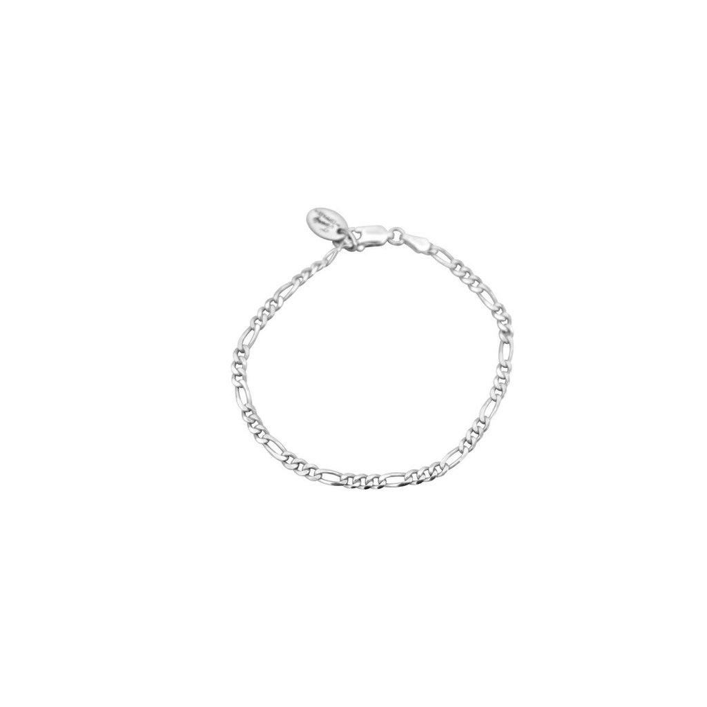 Twenty Compass Bracelet Figaro - Argent