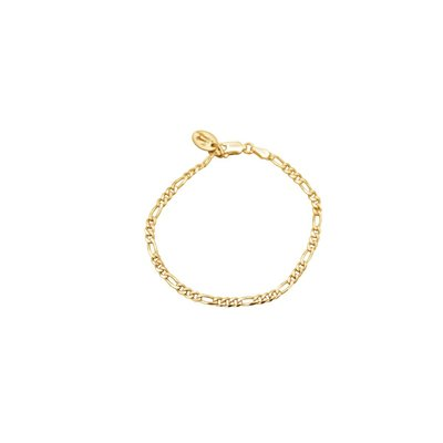Twenty Compass Bracelet Figaro - Vermeil