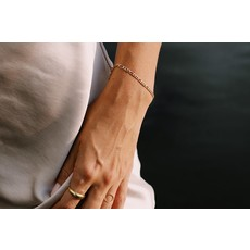 Twenty Compass Bracelet - Figaro Vermeil