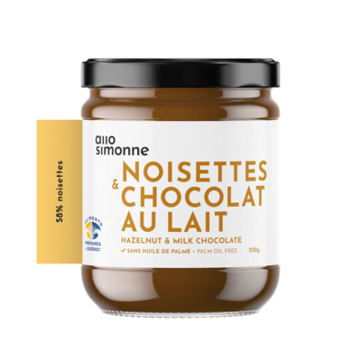 Allo Simone Tartinade - Noisette Chocolat au lait