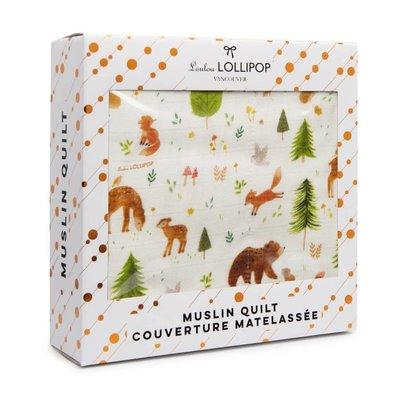 Loulou lollipop Couverture matelassée - Animaux de la forêt
