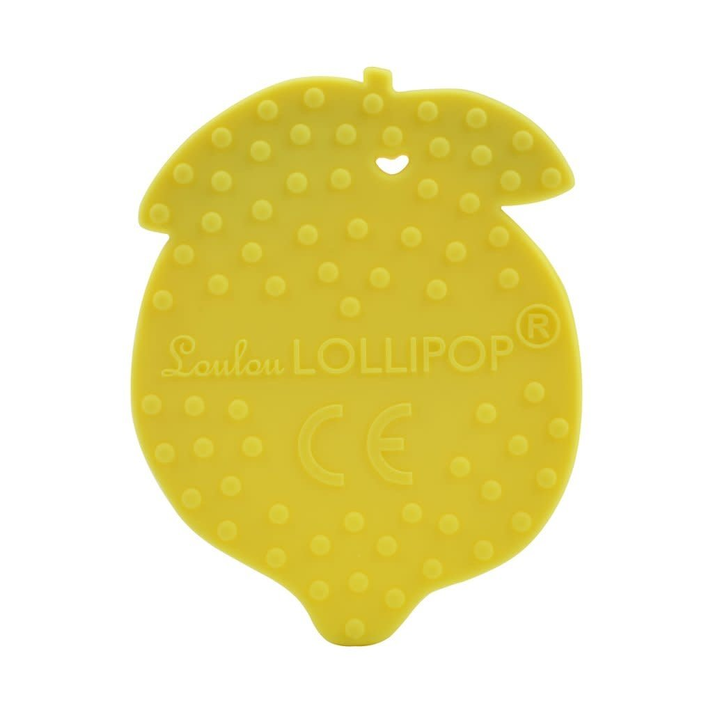 Loulou lollipop Jouet de dentition en silicone - Citron