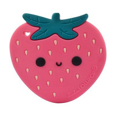 Loulou lollipop Jouet de dentition en silicone - Fraise