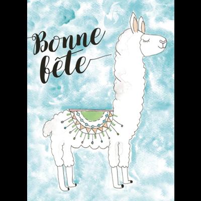 Stéphanie Renière Carte - Bonne fête Lama
