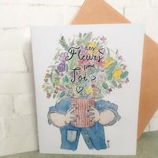 Kit de Survie Carte - Des fleurs pour toi