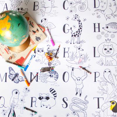 Atelier Rue Tabaga Affiche géante à colorier - Abécédaire
