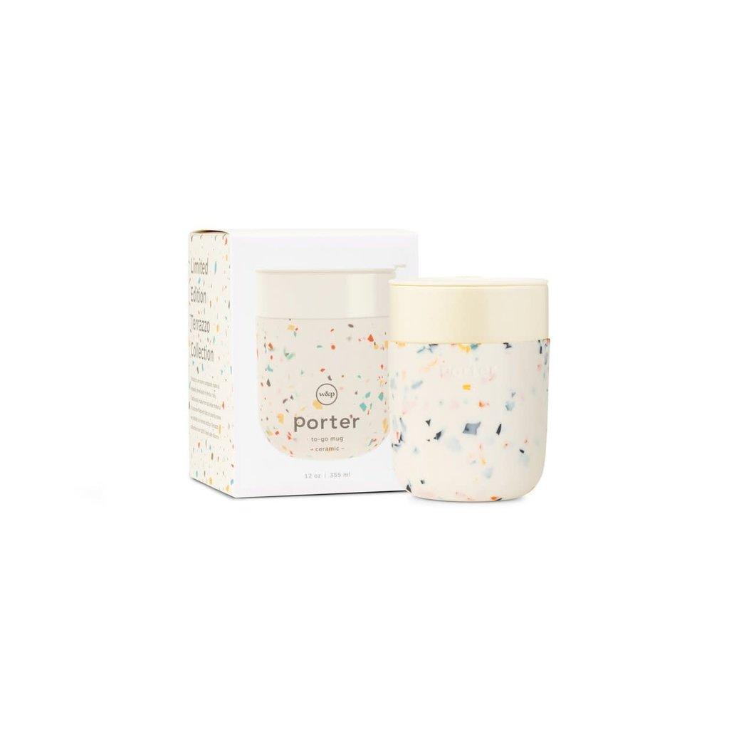 W&P porter Tasse en céramique 12 oz - Terrazzo Crème
