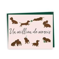 Lili Graffiti Carte - Un million de mercis