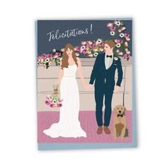 Lili Graffiti Carte - Jeunes mariés (Félicitations)
