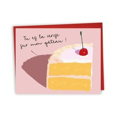 Lili Graffiti Carte - Cerise sur le gâteau