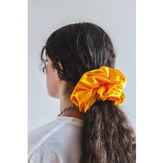 Enrose.bytu Chouchou géant - Jaune-orange satin