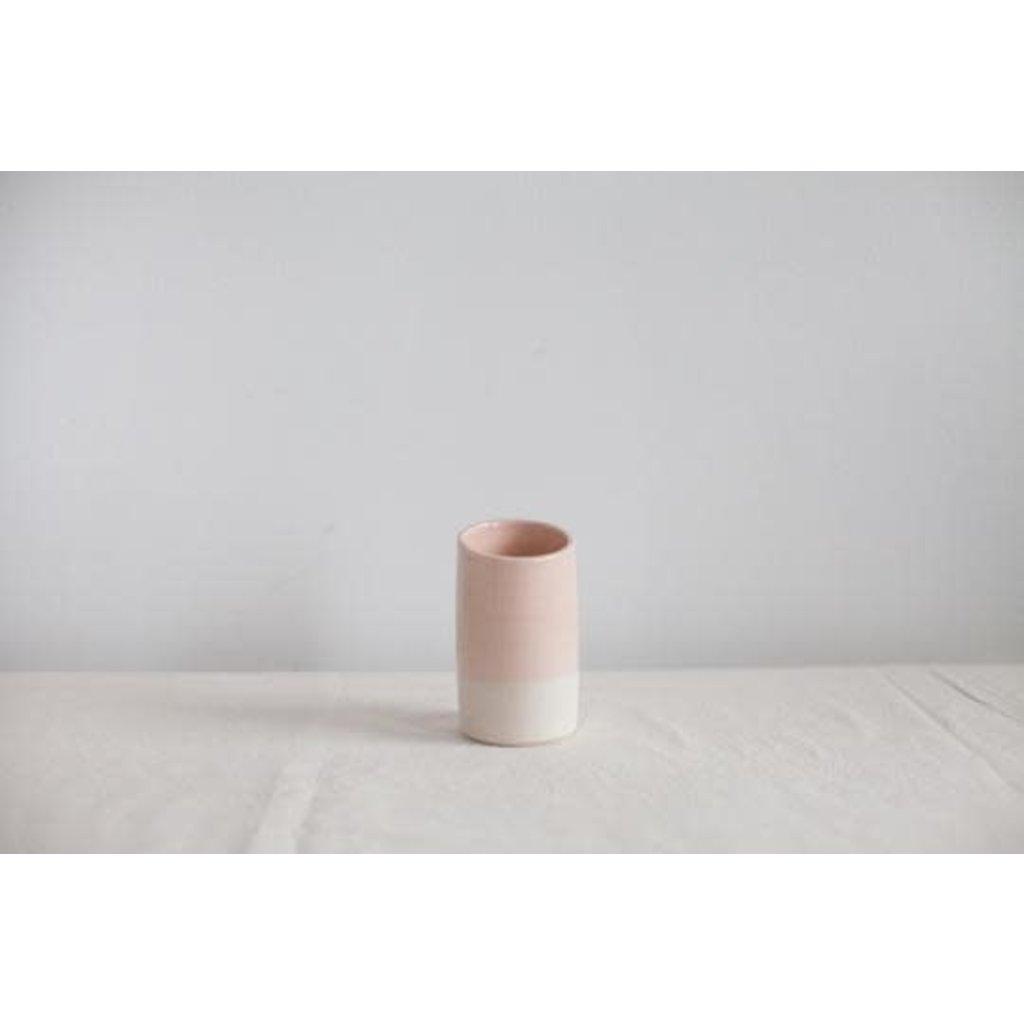Cuisinné Pot en céramique - Rose et blanc