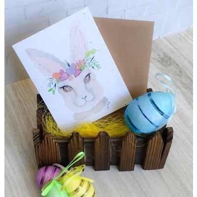 Kit de Survie Carte ensemencée - Cute Bunny