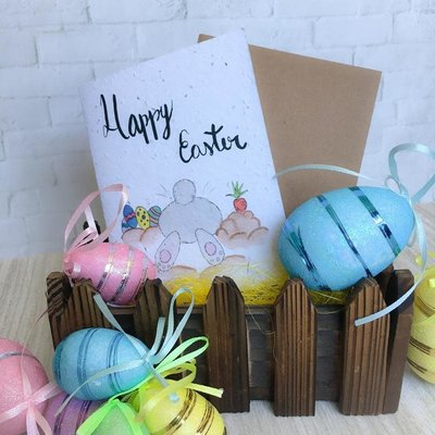 Kit de Survie Carte ensemencée - Funny Easter Bunny