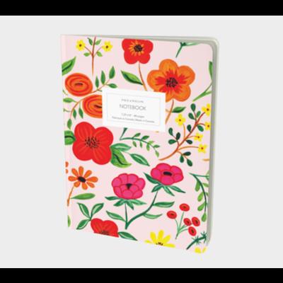 Paige & Willow Cahier - Fleurs sur fond rose