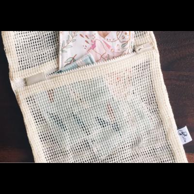 Fil & coton Sac de lavage pour lingettes démaquillantes