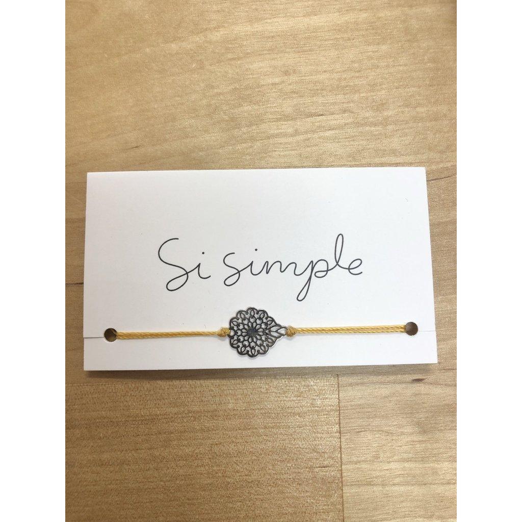 Si Simple Bracelet - Fleurs