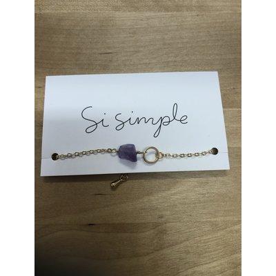 Si Simple Bracelet - Or
