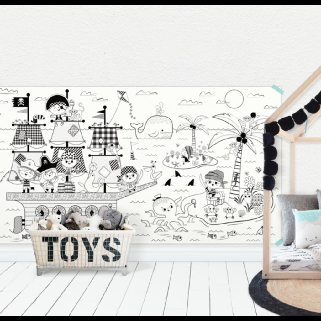 Atelier Rue Tabaga Affiche géante à colorier - Pirate