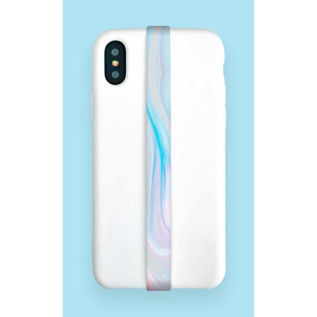Phone loops Phone Loop - Water marble blue
