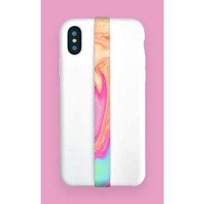Phone loops Phone Loop - Water marble pink