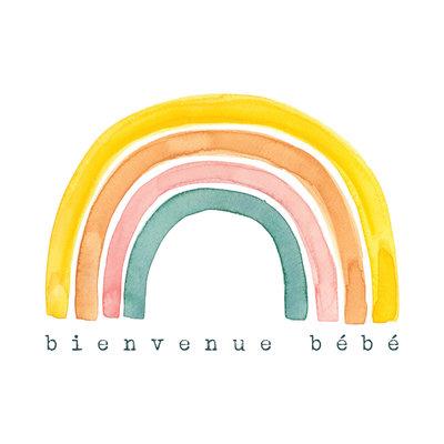 Stéphanie Renière Carte - Bienvenue bébé arc en ciel